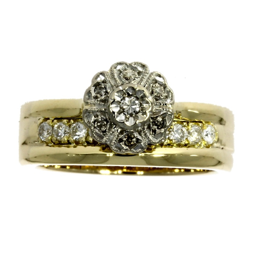 18ct yellow gold, diamond multi-stone *Superfit™ ring