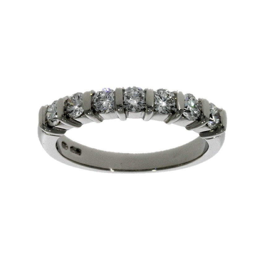 Platinum, diamond 7 stone ring