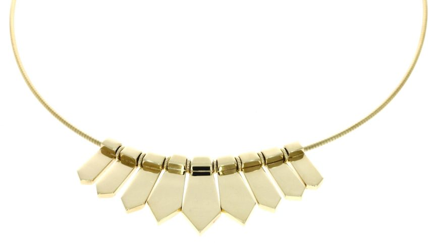 9ct yellow gold, 9 link necklace