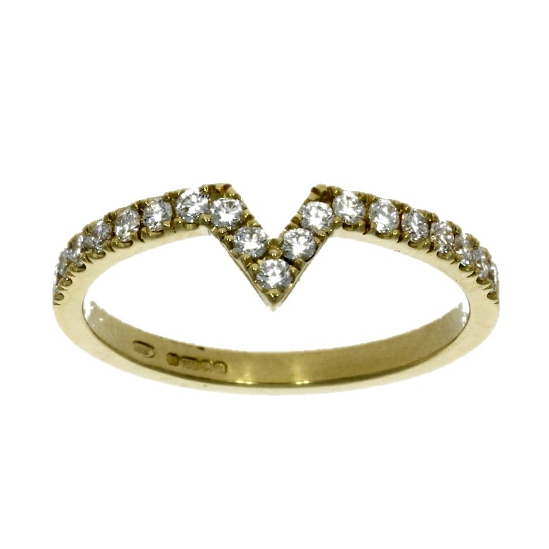 18ct yellow gold half eternity ring nicholas wylde
