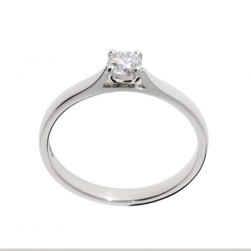 classic diamond engegement ring solitaire single stone claw set white metal ring platinum