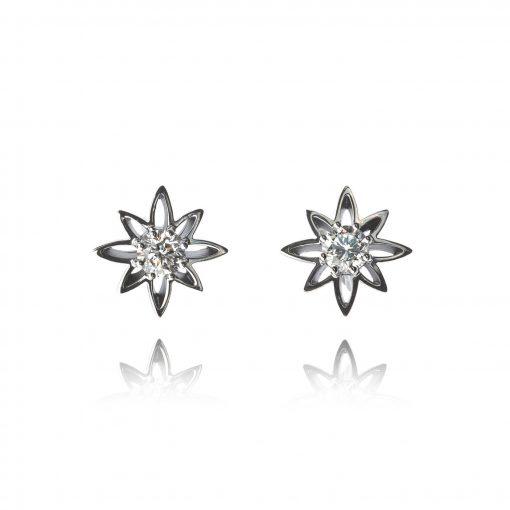 Wylde Flower Diamond floral studs