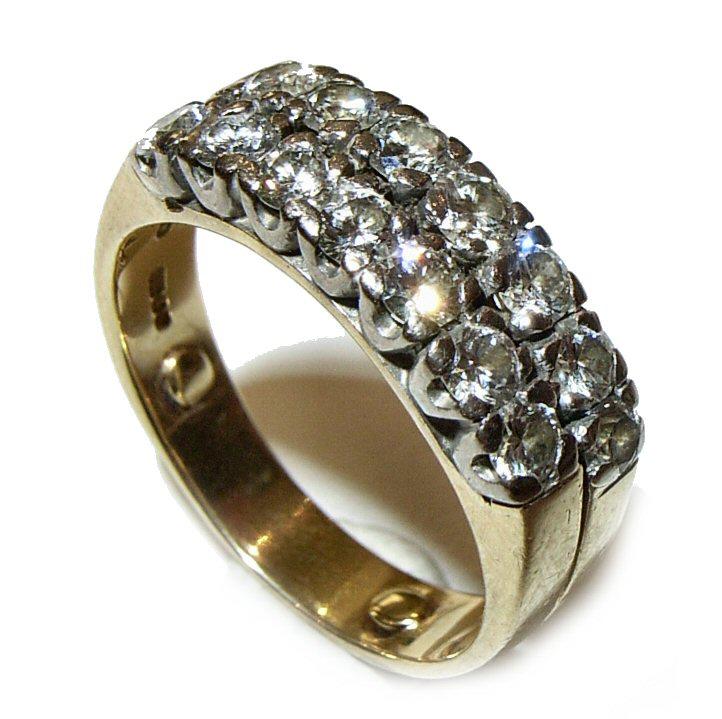 Ring (2 row Diamonds)