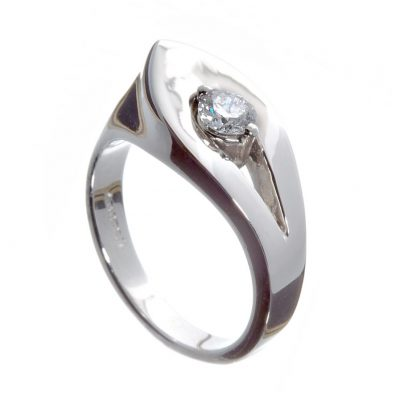 Wylde Flower Diamond leaf inspired modern contemporary ring