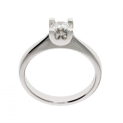 wylde flower diamond solitaire ring platinum white metal traditional engagement ring