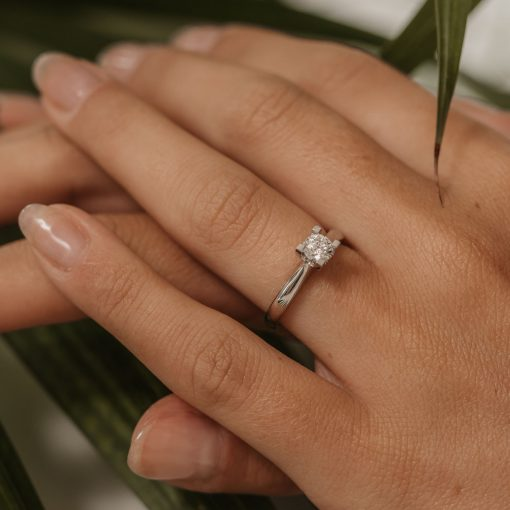 engagement ring solitaire platinum ring half carat 0.5ct