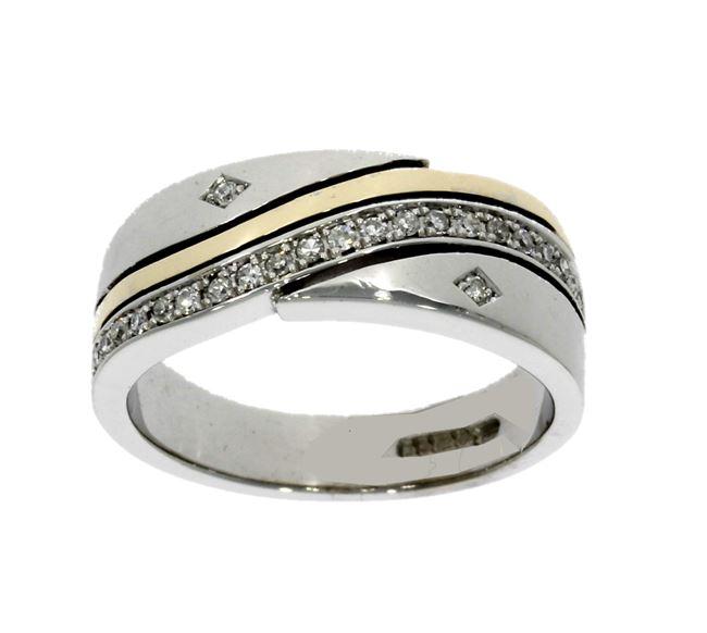18ct yellow & white gold, diamond multi-stone eternity ring