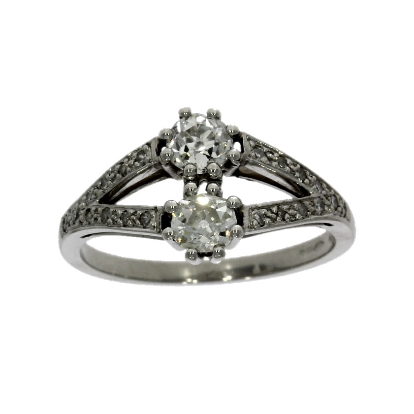 Platinum, diamond multi-stone ring