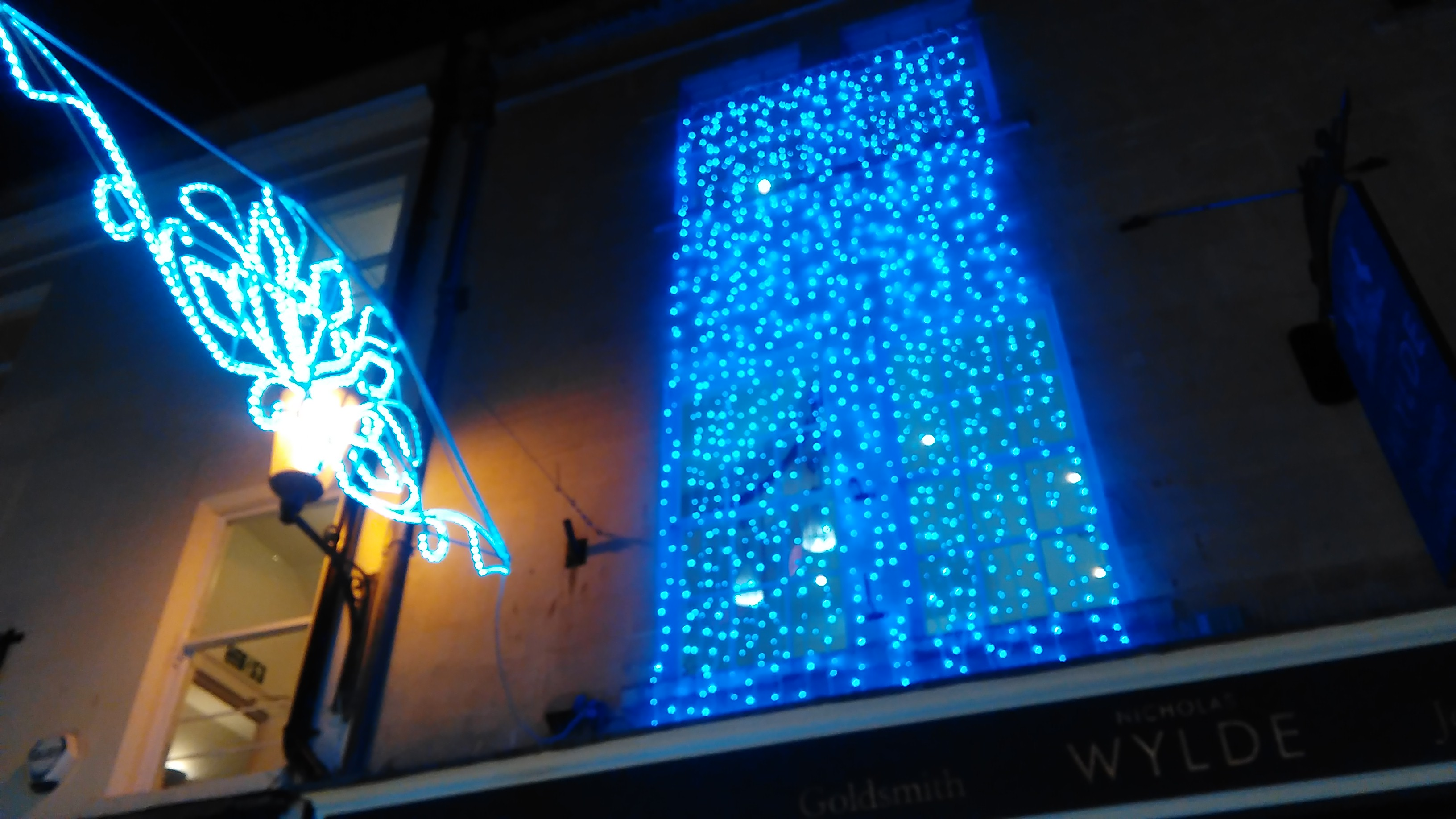 Let our 'Blue Light Waterfall' guide you!