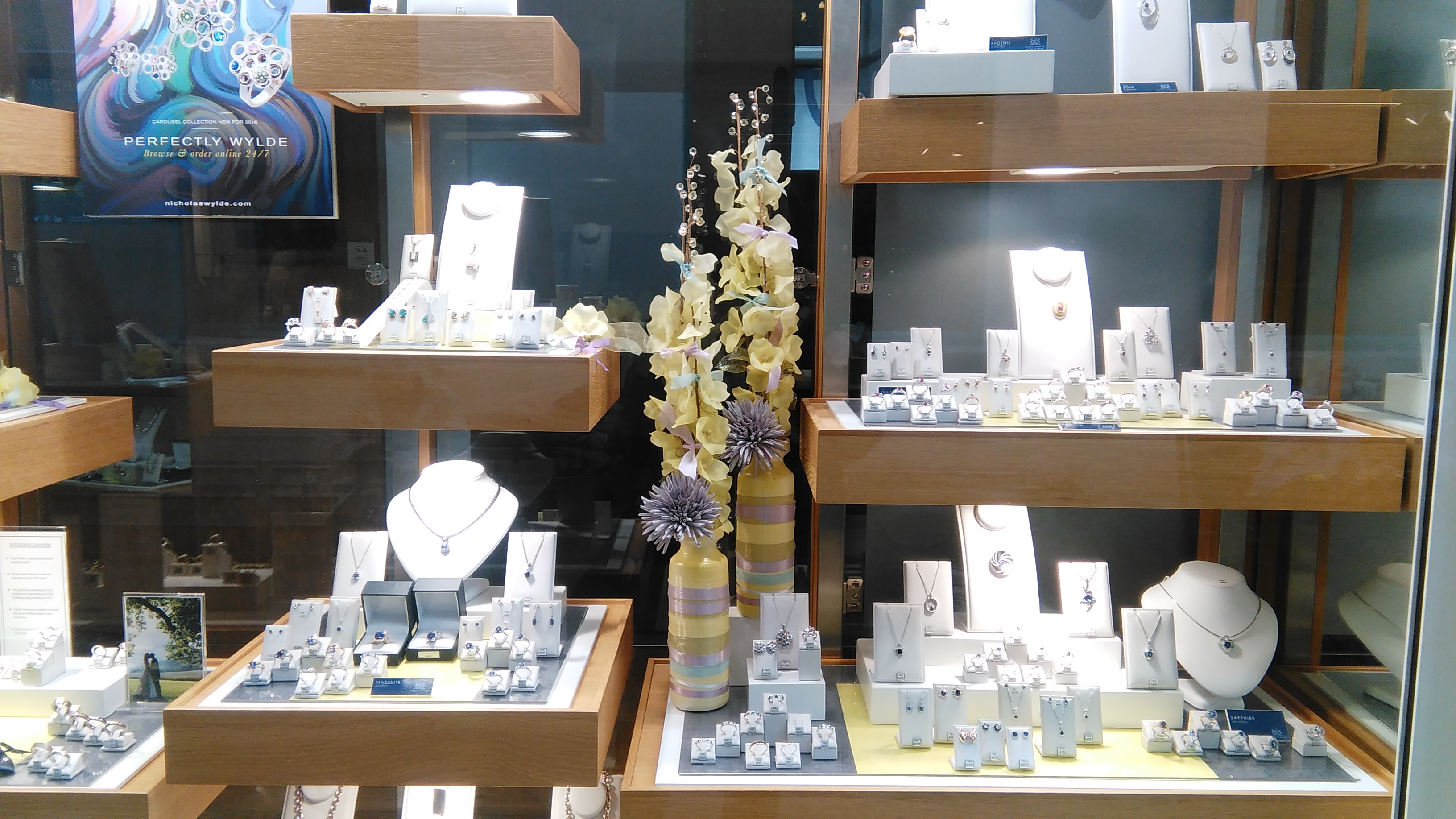 Spring has sprung in our new window display!