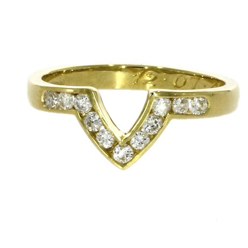 18ct yellow gold, diamond set wedding ring