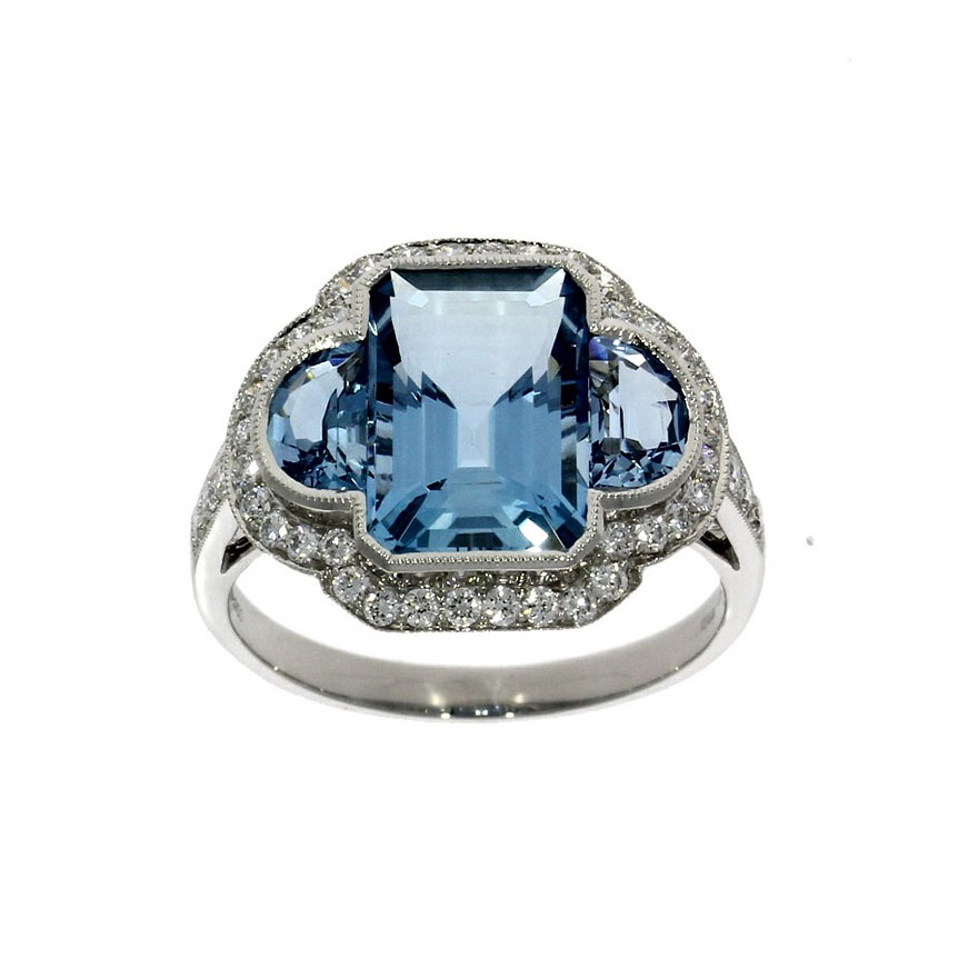 Star of the Month: Sky-blue aquamarine & diamond dress ring to brighten the winter evenings