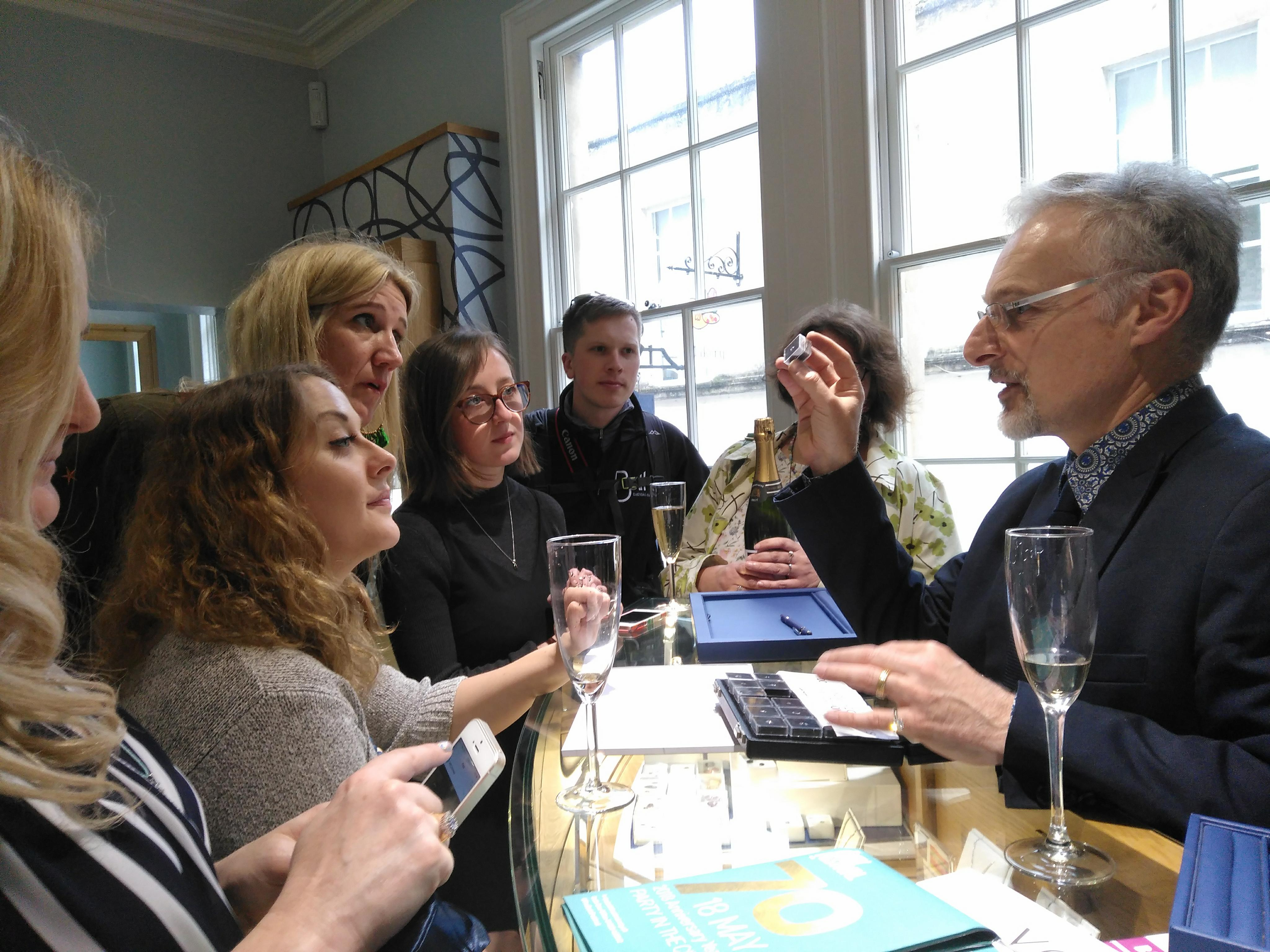 Bloggers in town:  Social media writers descend on our Bath store ahead of the Festival!