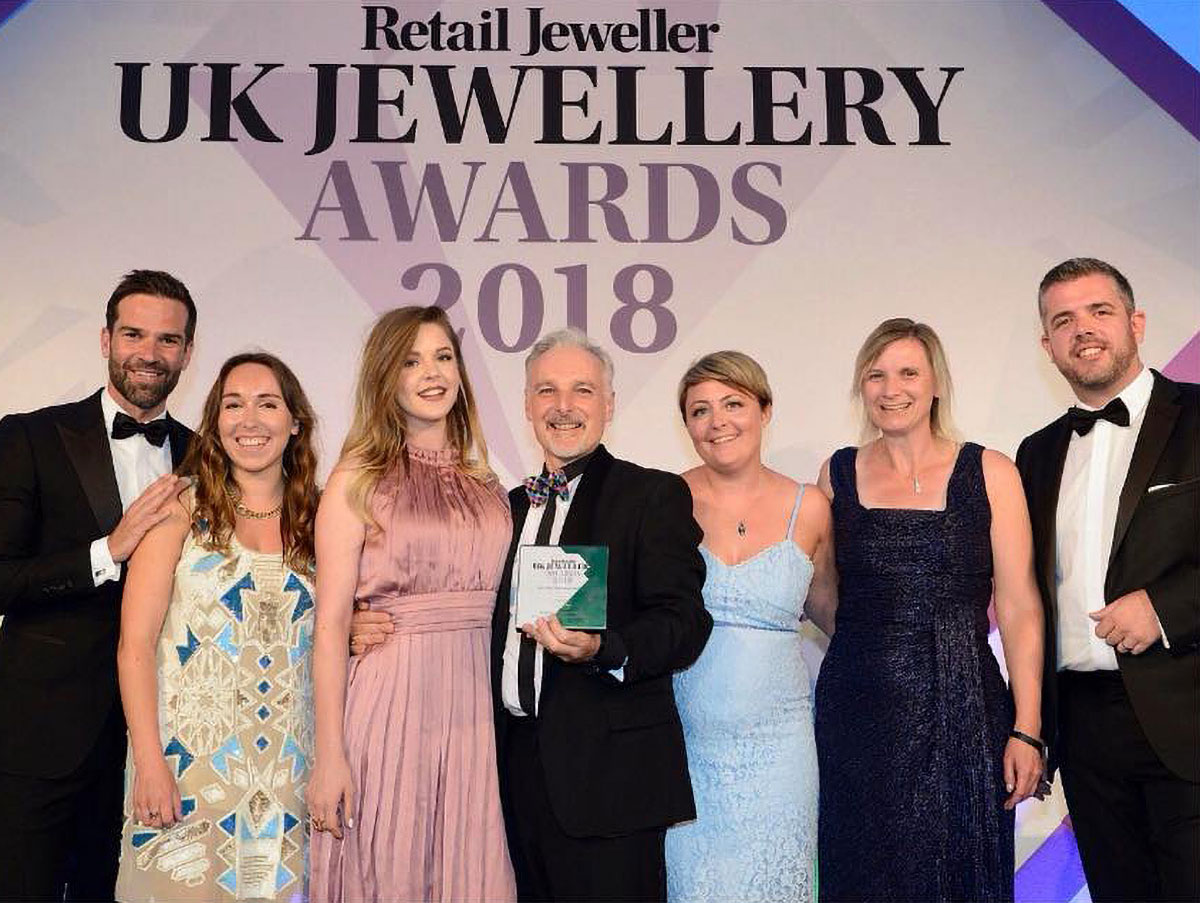 Over the moon to have won the Retail Jeweller 2018 'Marketing Campaign of the Year' award!