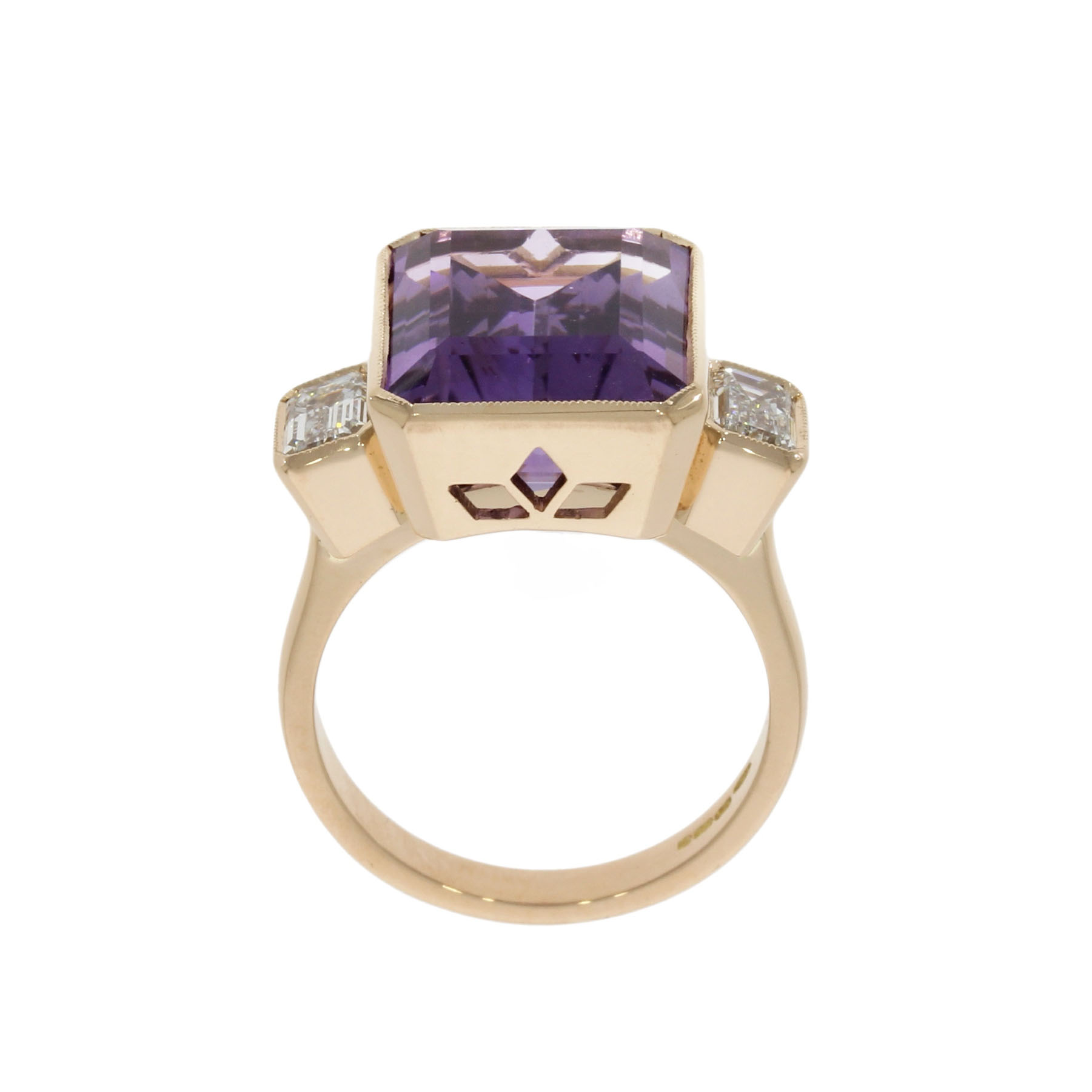 18ct Rose Gold Amethyst Ring