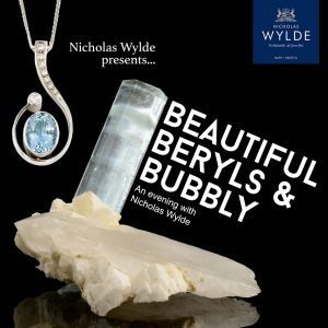 beryl evening bubbly beautiful typography jeweller jewellery lecture presentation aquamarine design nicholas wylde goldsmith