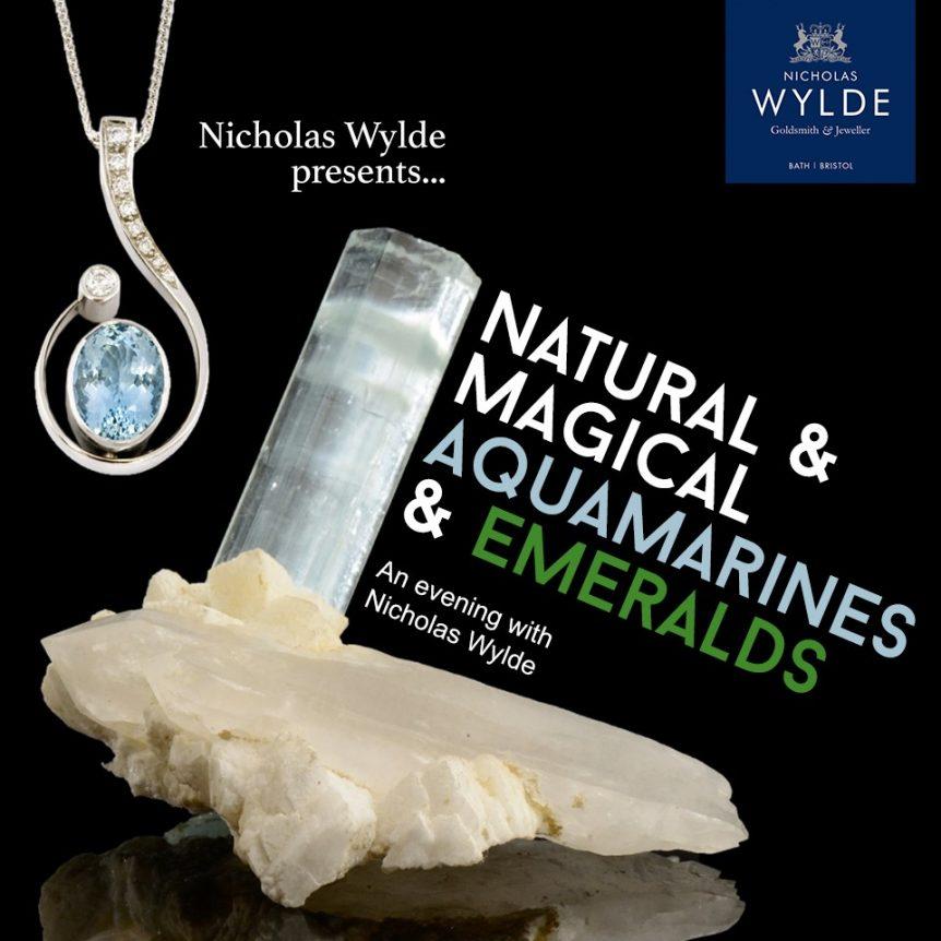 Natural Magical Aqua Raw Aquamarine Emerald Stones Nicholas Wylde Event Bath Bristol Free Champagne