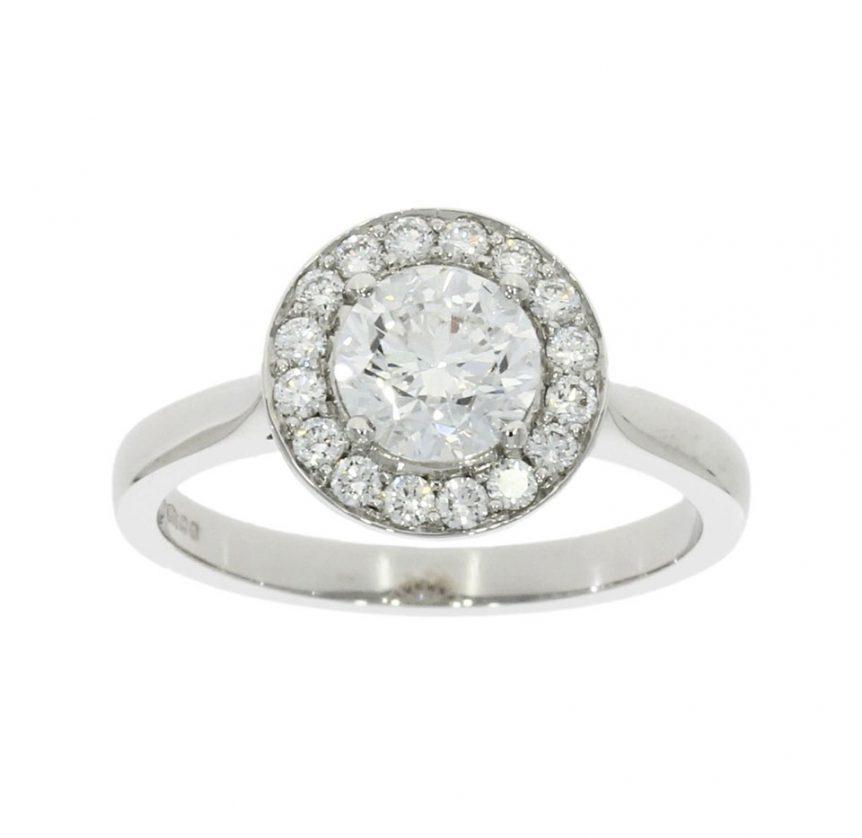 platinum halo diamond cluster bespoke engagement ring nicholas wylde commission uk bath bristol