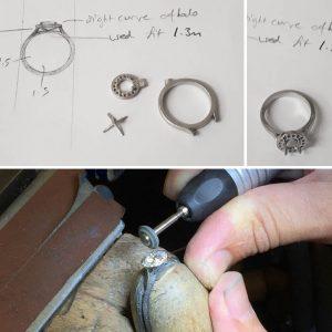 goldsmith design bespoke process working soldering stone setting