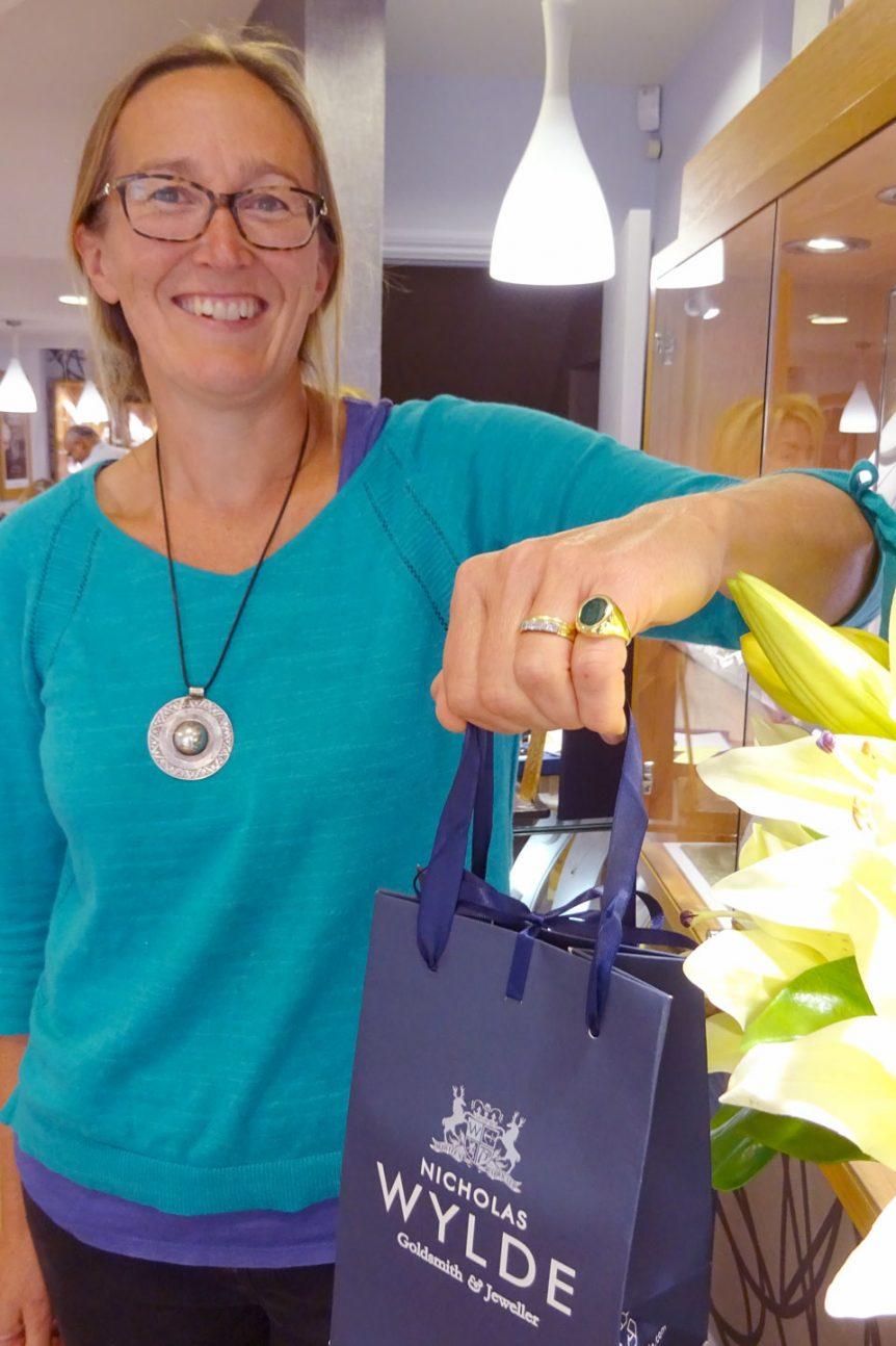 happy customer shopper shopping nicholas wylde client photo