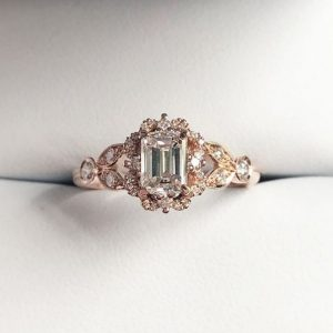 dazzling filigree rose gold intricate detailed engagement diamond ring wylde