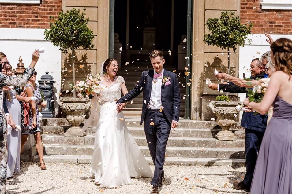 wedding confetti photo nicholas wylde happiest day of life bride groom