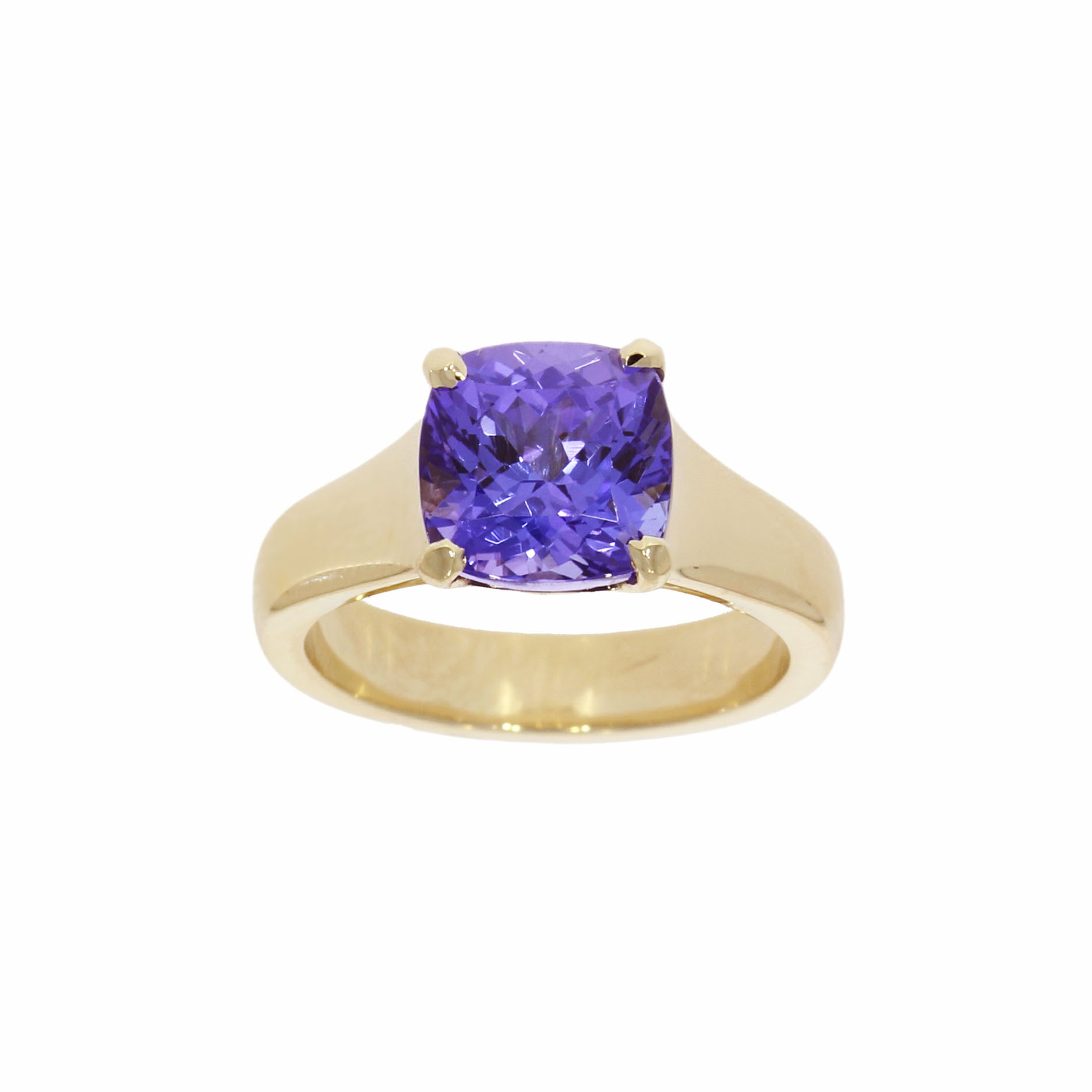 9ct Yellow Gold Tanzanite Ring