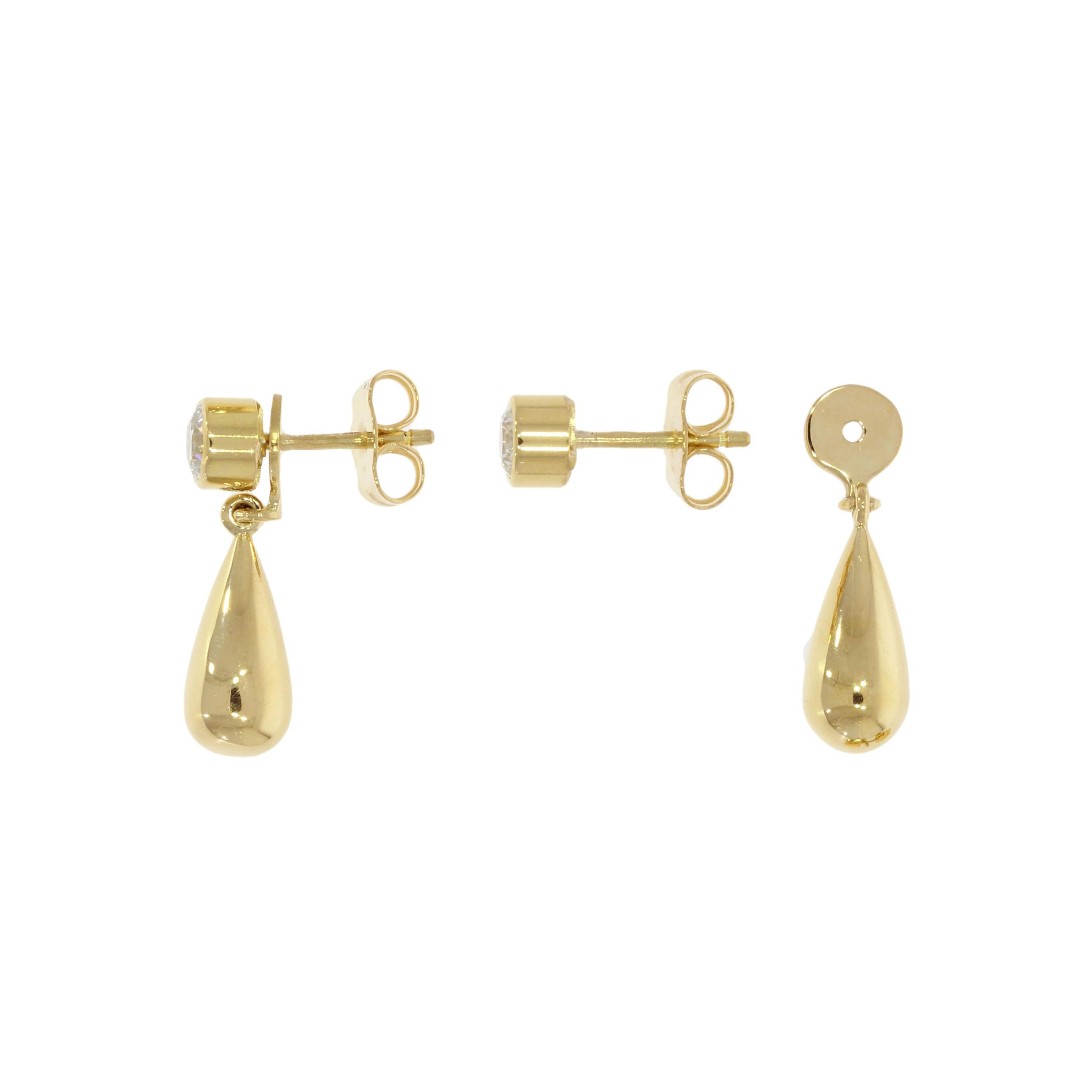 18ct Yellow Gold Interchangeable Diamond Earrings