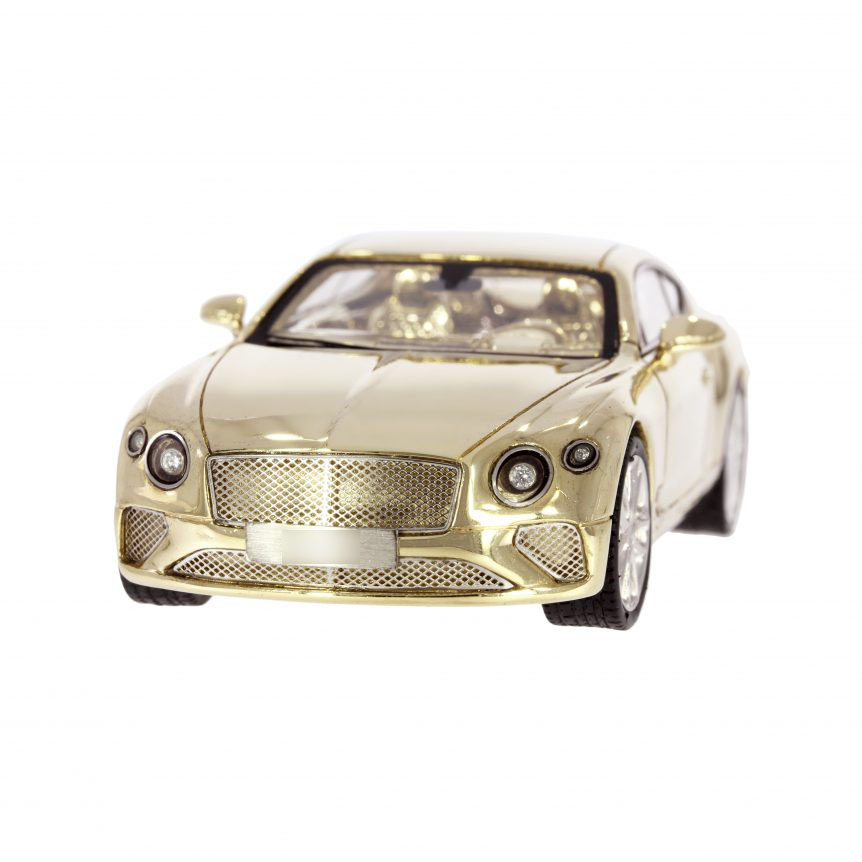 9ct Gold Diamond & Ruby Model Bentley