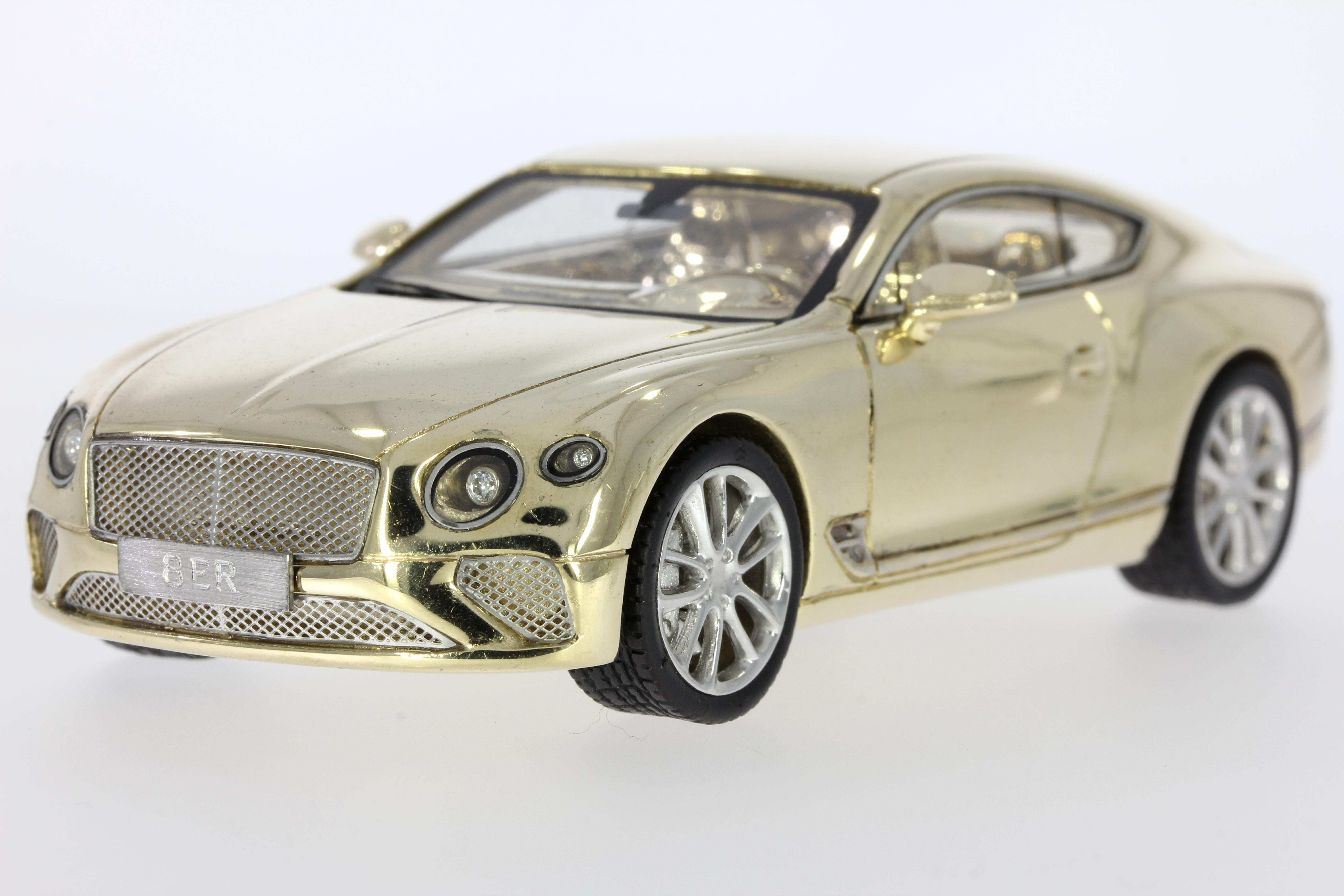 solid gold 9ct yellow car bentley diamonds rubies