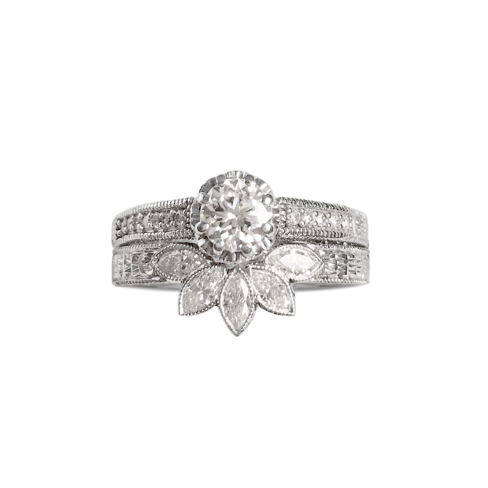 Marquise Diamond Shaped Wedding Ring