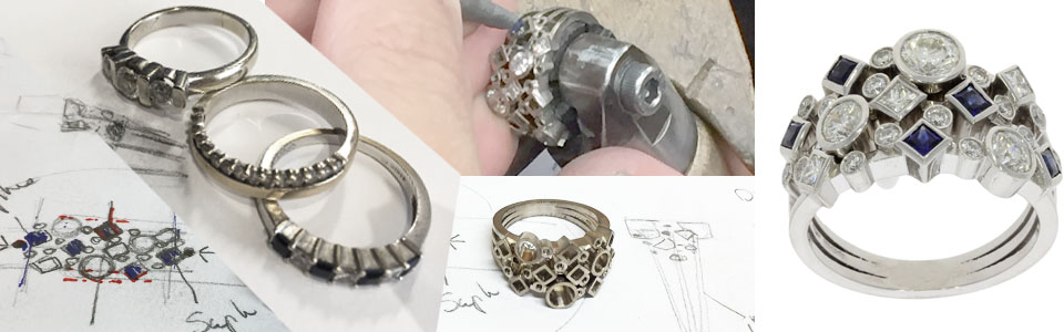 making of goldsmith process workshop before after old to new bespoke commission