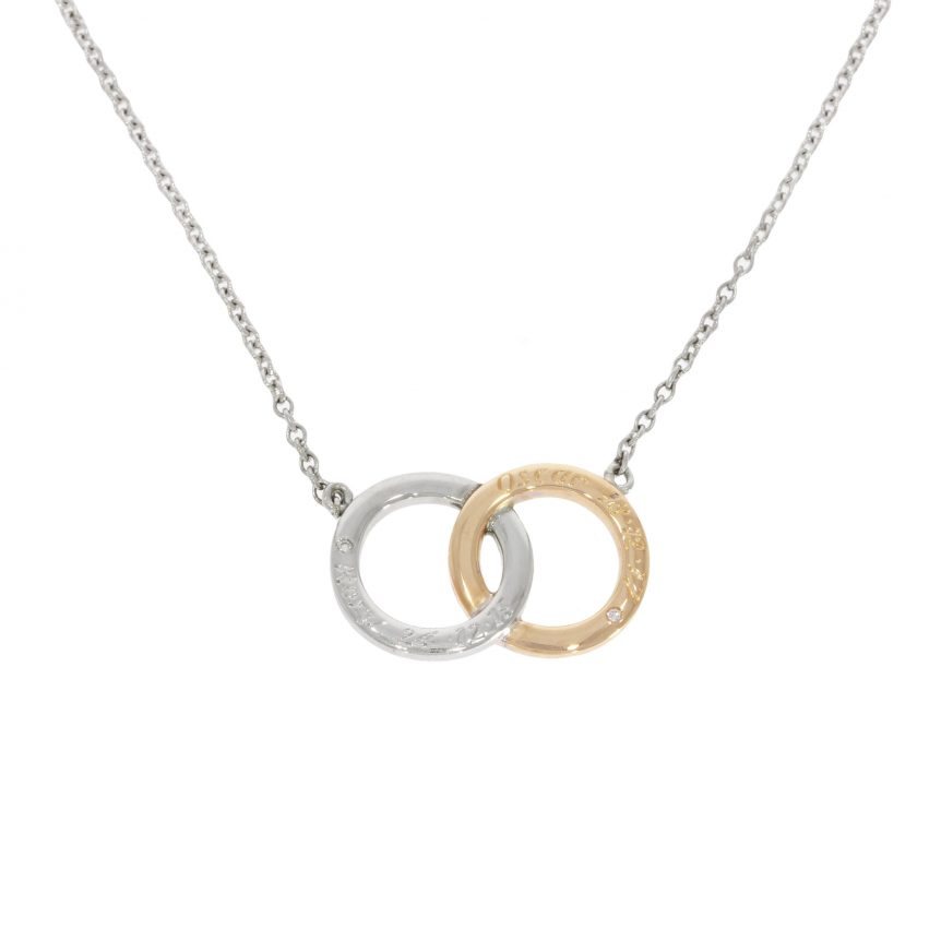 double two ring infinity white yellow rose gold children birthstone name necklace pendant wylde