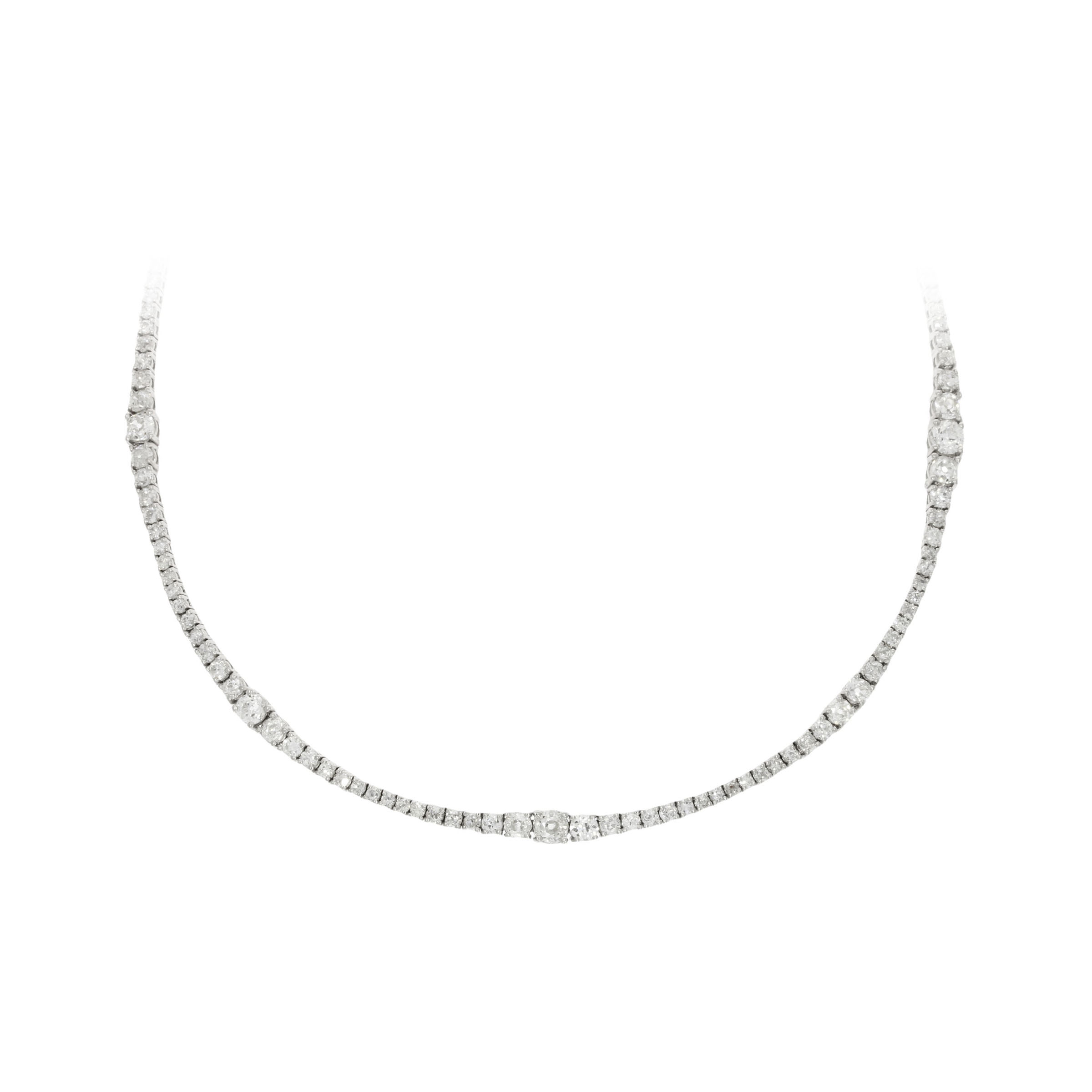 Platinum Multi-Diamond Set Necklace