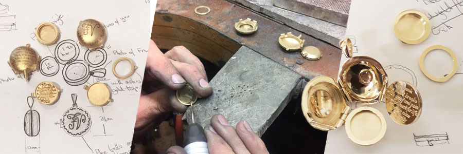 making of locket windows ashed momento mori funeral gift uk