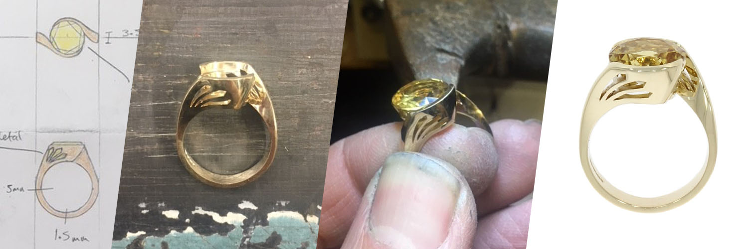 making of yellow beryl ring in goldsmith jeweller workshop best uk wylde