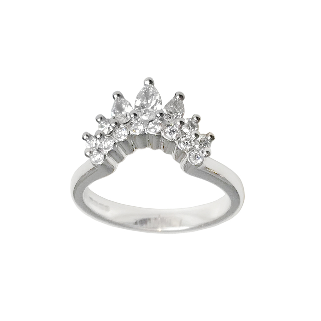 18ct White Gold Diamond 'Tiara' Ring