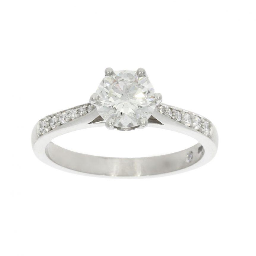 classic chic stylish simple glittery diamond bespoke ring uk