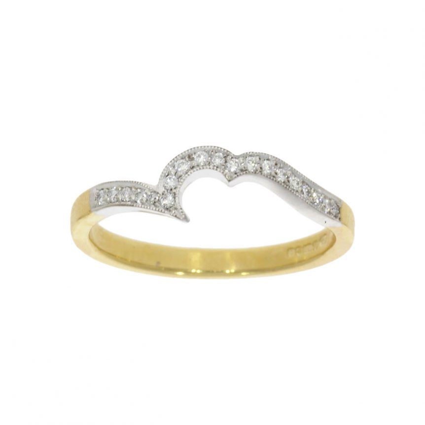 tight fit shaped diamond yellow white gold wedding ring band england