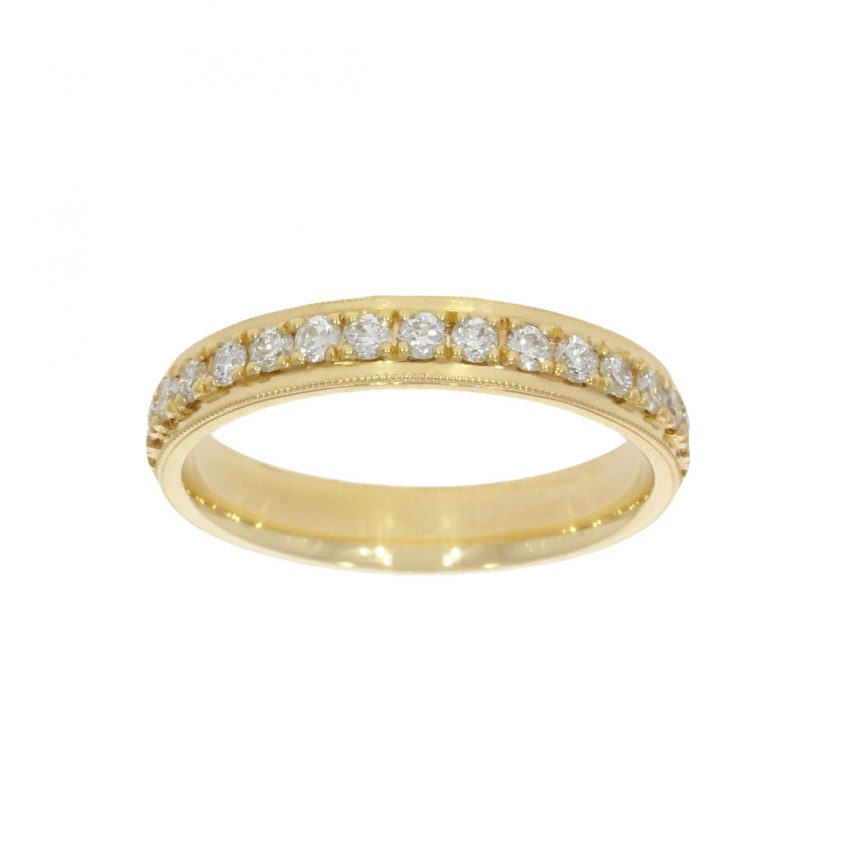 18ct yellow gold full eternity style but as a wedding ring at wylde