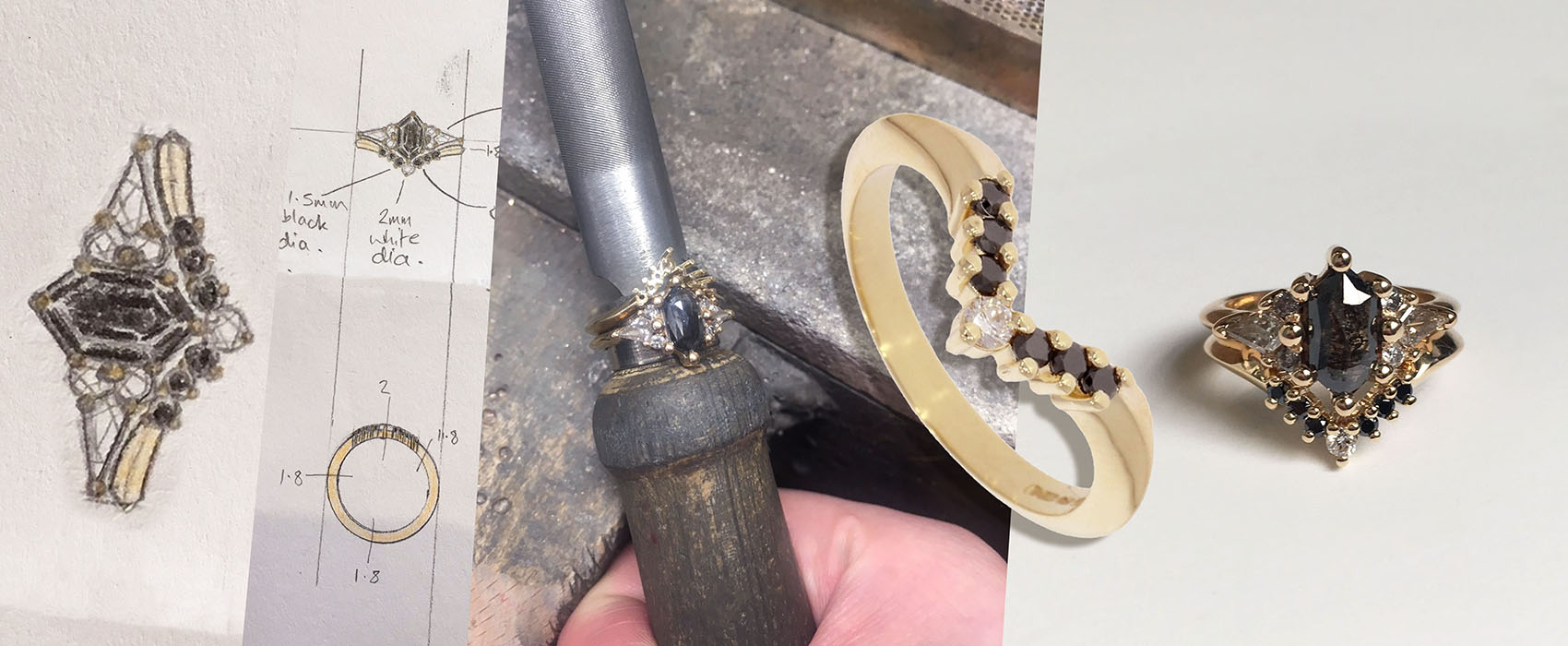 From sketch to finished bespoke jewellery at Wyldes