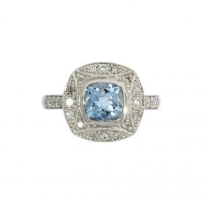 aquamarine engagement ring stylish nicholas wylde bath bristol uk
