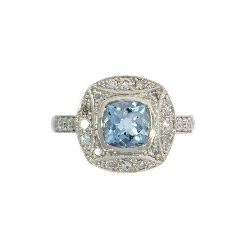 aquamarine engagement ring stylish nicholas wylde bath bristol uk