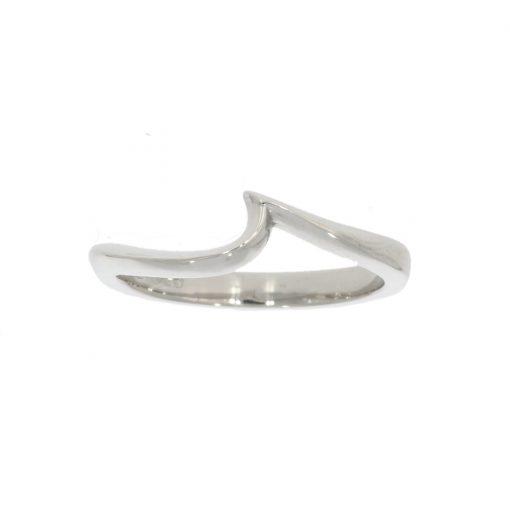 18ct white gold platinum shaped wedding ring wave custom bath uk best goldsmith