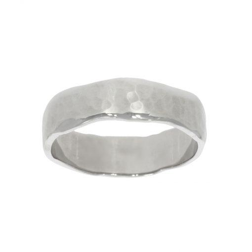 hammered organic natural wedding ring men's mens gentlemens grooms groom