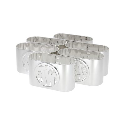 Personalised bespoke initial sterling silver napkin rings