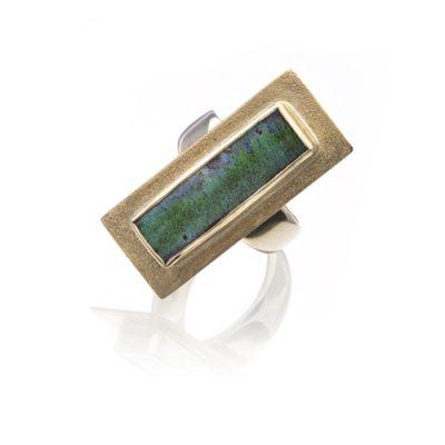 Rectangular opal ring