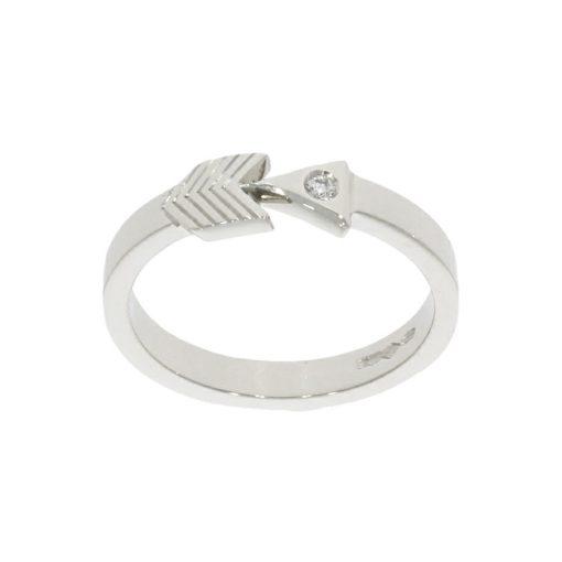 platinum diamond arrow arrowhead style design bohemian boho ring stylish sterling silver
