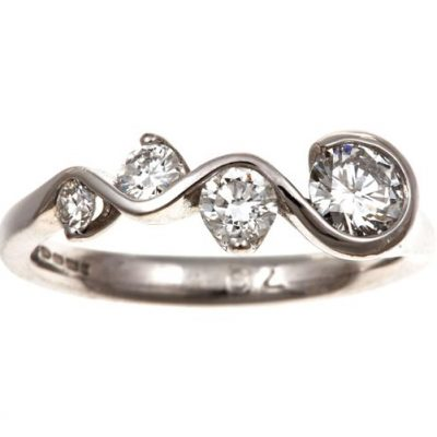 Diamond 4 stone ring