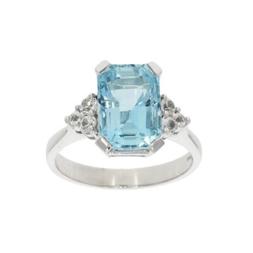 aqua aquamarine white topaz diamond cocktail engagement ring wylde bath bristol uk